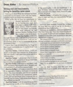 Dear Abby Article